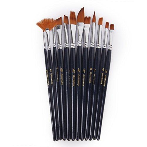 vorcool-imposta-12pcs-nylon-capelli-pennello-manico-corto-artista-acquerello-acrilico-pittura-a-olio