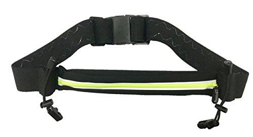 It\'s running Single Race Belt Laufgürtel Hüfttasche, Black/Yellow, One Size