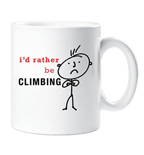 Herren I 'd Rather Be Klettern Becher Geschenk Tasse Keramik Dad Mann
