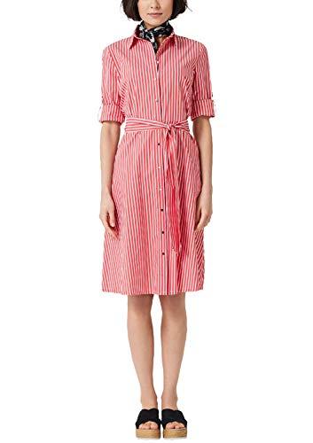 s.Oliver Damen 14.904.82.2007 Kleid, Rot (Brick Red Stripes 26g5), (Herstellergröße: 40)