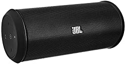 JBL Flip 2 Black Edition NFC Bluetooth Wireless Stereo-Lautsprecher (Tragbar, Aufladbar, Integriertem Mikrofon, Kompatibel mit Apple iOS/Android Smartphones/Tablets/MP3 Geräten)
