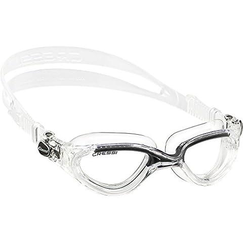 Cressi Flash - Gafas de natación unisex, color transparente / negro