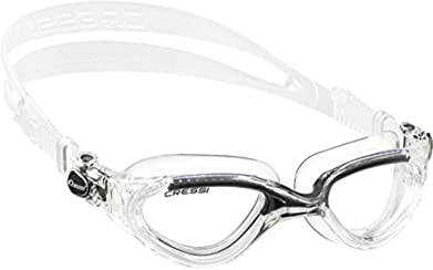 Cressi Flash Occhialini da Nuoto, Trasparente/Nero
