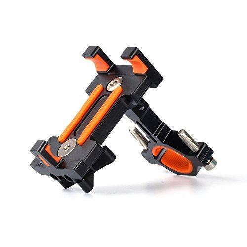 Senisttech Supporto Telefono Bicicletta, Universale regolabile 360 Rotante Phone Holder Mount manubrio della bici della porta cellulare Supporto per 3,5 a 7 pollici per smartphone - nero