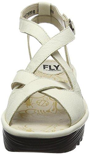 FLY London Rand728, Sandales Compensées Femme Blanc Cassé (Off White 006)