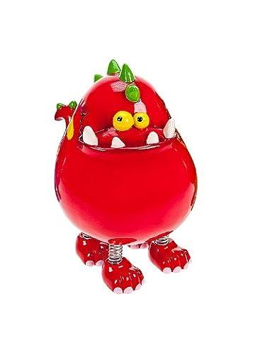 Tirelire dinosaure rouge avec coffret cadeau pour filles et