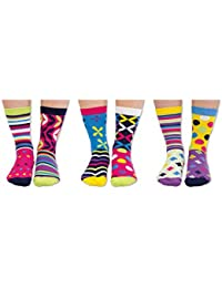 The Present Store United Oddsocks Foot Kandy Lot de 6 chaussettes assorties