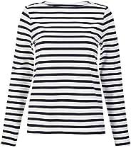 Marks & Spencer Women's Striped Long Sleeve Top,