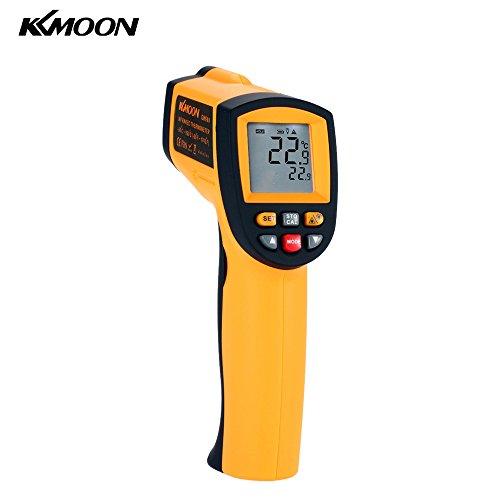 KKmoon Thermometer -50 Bis 900 Celsius (-58 bis 1652 Fahrenheit) Berührungsloses IR Thermometer Pyrometer mit LCD Beleuchtung Temperaturmessgerät Temperaturmesser(Alarm MAX/MIN/AVG/DIF Anzeige) -