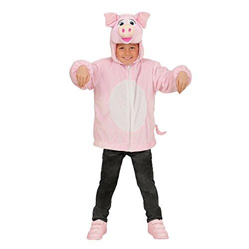 Widmann Kapuzenjacke Schwein für Kinder (Baby-schwein Halloween Kostüm)