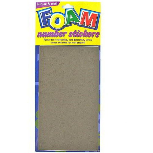 Foam Number Stickers Assorted Sizes And Colors Pack Of 96