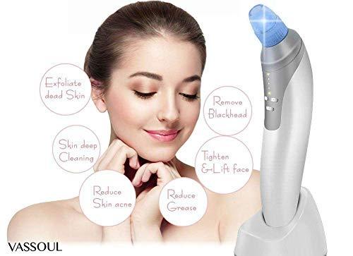 VASSOUL Blackhead Vakuum Saugentfernung Portable Wiederaufladbare Cleaner,Electric Pore Cleanser Professionell Gesicht Poren Reiniger für Mitesser Und Akne