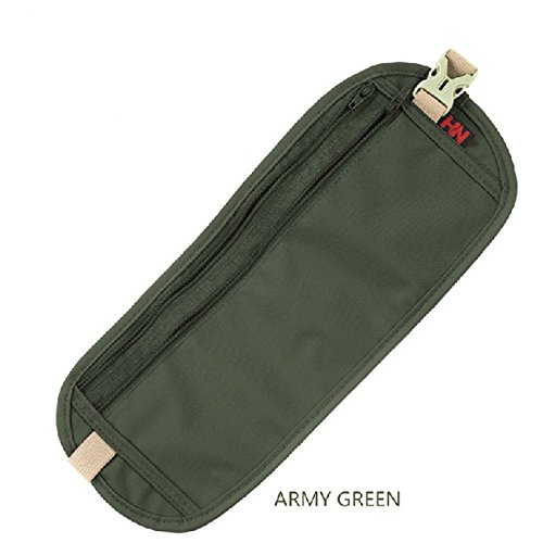 Sicherheit Discreet Geld Reise Taille Gürtel Reißverschluss Pass Anti-Diebstahl Taille Tasche Armeegrün