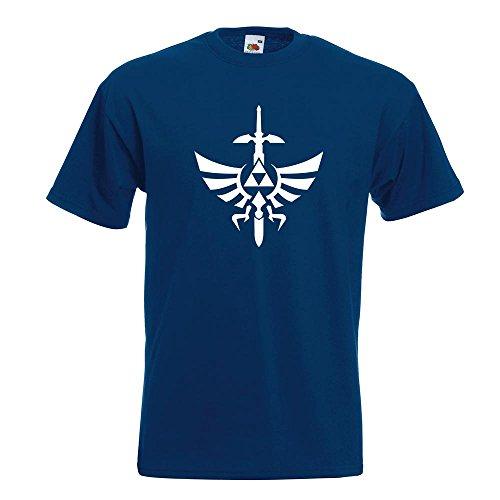 KIWISTAR - Triforce - The Legend of T-Shirt in 15 verschiedenen Farben - Herren Funshirt bedruckt Design Sprüche Spruch Motive Oberteil Baumwolle Print Größe S M L XL XXL Navy