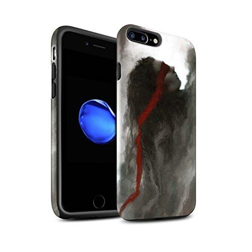 Offiziell Chris Cold Hülle / Matte Harten Stoßfest Case für Apple iPhone 7 Plus / Hades/Phantom Muster / Unterwelt Kollektion Rotes Band-Engel
