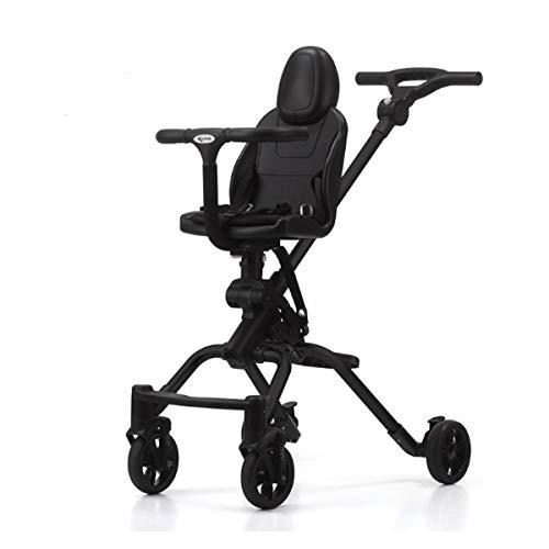 BabyCarriage Vierrad-Kinderwagen mit einhändig klappbarem, höhenverstellbarem Schiebegriff von Geburt an bis 25 kg (silberweiß/schwarz/Silbergrau)