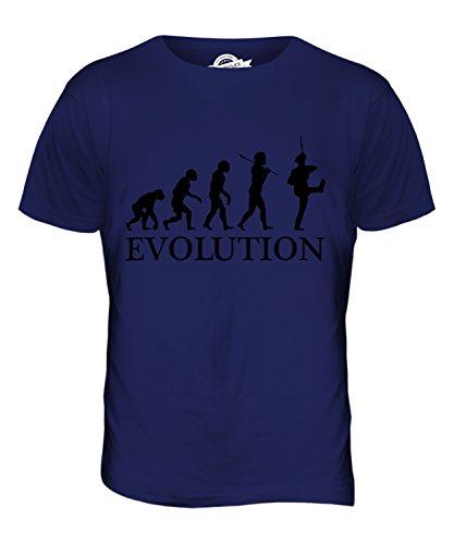 CandyMix Marsch Marcherende Soldaten Evolution Des Menschen Herren T Shirt Navy Blau