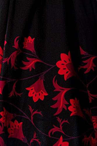 50er Jahre Rockabilly Kleid mit mit schönem Blumenmuster - 3