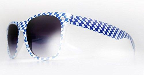 Nerdy Wiesnbrille - Buam - Sonnenbrille mit UV-Schutz 400, CE Zertifiziert, ohne Sehstärke, Farbe Blau, Brille mit (Mann Kostüm Hipster)