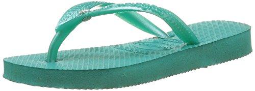 Havaianas Slim Crystal Swarovski, Sandales Fille, Turquoise (Lake Green 1407), 33/34 EU