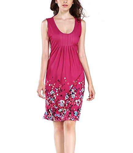 FeelinGirl Sommerkleid Damen Kleider Sommer Kleid Knielang Trägerkleid Strandkleider (Kleid Gatsby Billig)