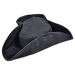 Fancy Dress Hats | Pirate Distressed Hat Black (gorro/sombrero)
