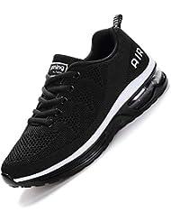 smarten Hommes Femme Basket Mode Chaussures de Sports Course Sneakers Fitness Outdoor Run Shoes Running Respirantes Athlétique Multicolore Respirante-34-45 EU Noir Blanc Rouge La Poudre Bleu