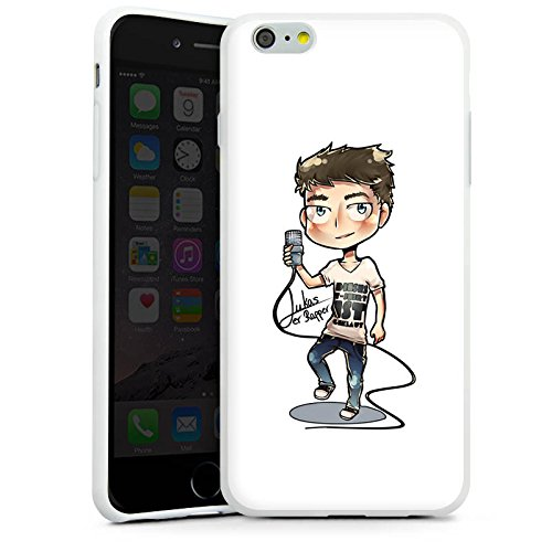 Apple iPhone X Silikon Hülle Case Schutzhülle Lukas der Rapper Fanartikel Merchandise Youtuber Silikon Case weiß