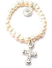 Equilibrium Jewellery Tauf-Armband, Süßwasserperlen