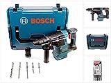 Bosch GBH 18 V-26 F Akku Bohrhammer Professional SDS-Plus Solo in L-Boxx mit Schnellwechselfutter + 5-tlg. SDS-VPlus Hammerbohrer-Set - ohne Akku, ohne Ladegerät