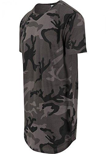 Urban Classics Herren T-Shirt Camo Shaped Long Tee Mehrfarbig (Dark Camo 784)
