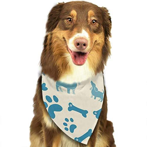 Hipiyoled Nettes Tupfen-Dackel-Welpen-Muster stilvolle Nette lustige Party-Mädchen-Jungen-Hundebandana modern