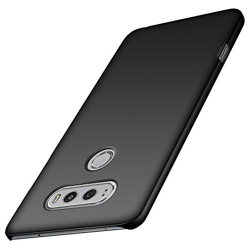 anccer LG V20 Hülle, [Serie Matte] Elastische Schockabsorption und Ultra Thin Design (Glattes Schwarzes)