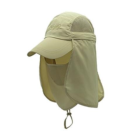 Surblue schnell trocknende Cap UV-Schutz Sonnenhüte Angeln Hut Hals Gesicht
