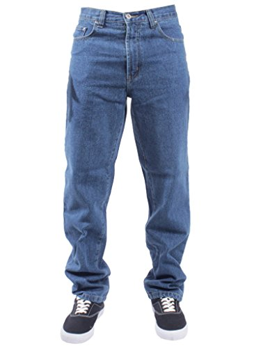 Blue Circle - Herren Jeans für Arbeit Bauern Mechaniker - Stonewash, 34 X-Kurz (Kurz Herren Arbeit Denim)