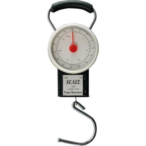 32kg Escala de equipaje bolsa maleta de equipaje de peso báscula de viaje cinta métrica (1m)