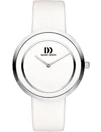 Danish Design-DZ120315 Damen-Armbanduhr Lolla Quarz analog Leder Weiß
