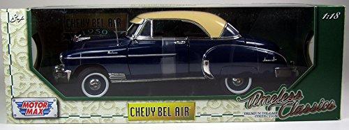 Bel Air Mini (Modell 1:18 Chevrolet Bel Air, dunkelblau/dunkelbeige, 1950 Motormax 73111)