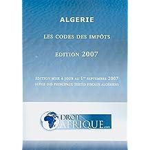Algérie - Code General des Impots 2007 (Mis a Jour Septembre 2007)