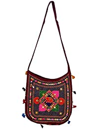 Gaurapakhi Rajasthani Collection And Ethnic Cotton Handmade Handbag With Multicolor For Women's - B07D7HVYVK