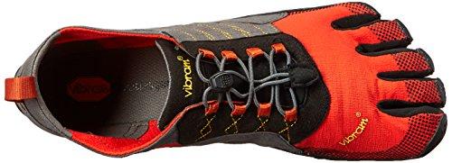 Vibram Five Fingers Herren Trek Ascent Outdoor Fitnessschuhe Mehrfarbig (Grey/red/black)