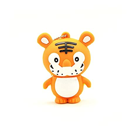 FEBNISCTE Cartoon Tiger 16GB USB 2.0 Flash Drive Pendrive Birthday Gift