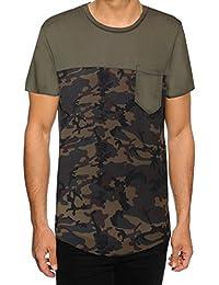 Hommes Soulstar Keeno Imprimé Camouflage Long T-Shirt