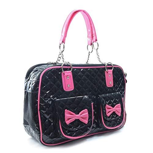 Pet Carrier Pet Reisetasche Cat Portable Handbag, Soft Sided Tote Handtasche Zusammenklappbar (Color : Black) -