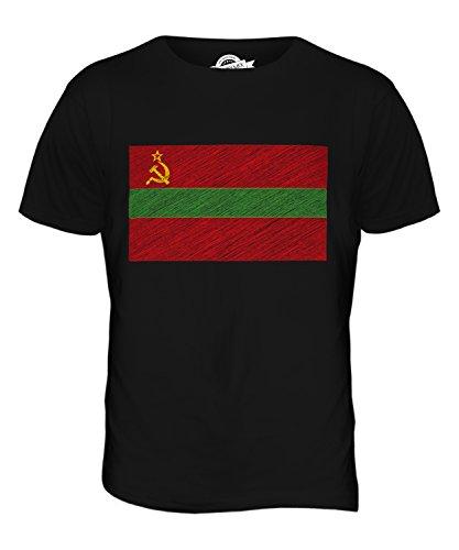CandyMix Transnistrien Kritzelte Flagge Herren T Shirt Schwarz