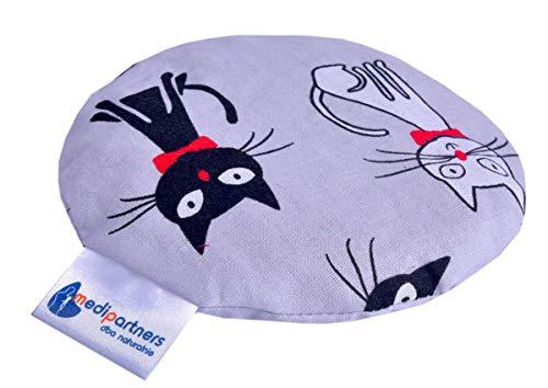 Kirschkernkissen Wärmekissen Körnerkissen für Babys 180g rund 15cm Öko Natur 100% Baumwolle Medi Partners Wärme + Kältetherapie Massagetherapie (Katzen)