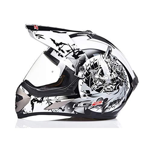 Casco da motocross professionale per adulti Casco protettivo da fuoristrada per la sicurezza degli adolescenti Materiale per gli addominali Caschi integrali Casco per moto da fuoristrada all'aperto