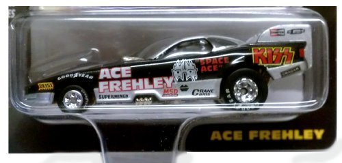 Johnny Lightning / KISS / ACE FREHLEY BLACK Dragster w Bonus Photo Card /  Racing Dreams Collection / 1997 by Johnny Lightning