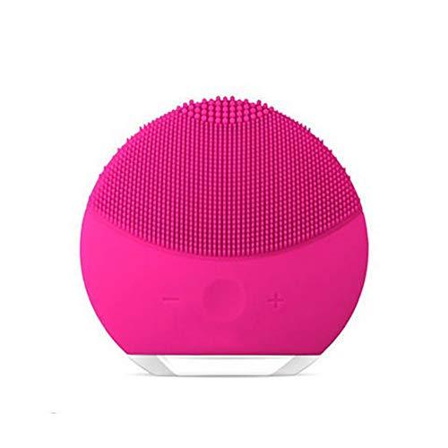 Gesichtsreinigung Pinsel Wasserdichte Tragbare Vibrierende Gesichtsbürste Silikon Gesichtsmassagegerät Anti-Aging Hautreinigungssystem für Alle-Rosered