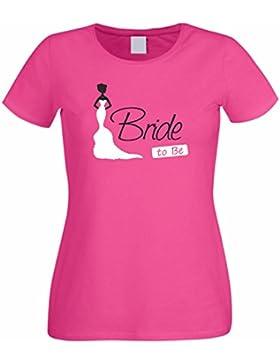 Junggesellenabschied Damen/Girlie T-Shirt Motiv Bride to be